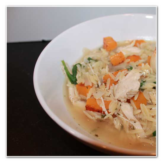 Orzo, Squash, and Chicken Soup