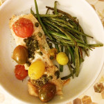 Salmon with Tomatoes, Capers, and Wine