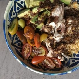 Avocado Chicken Balsamic Bowl